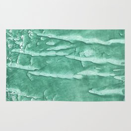 Green spotted watercolor Rug