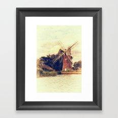 Hunsett drainage mill Framed Art Print