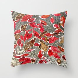 Softly Falling Throw Pillow