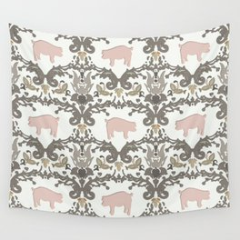 pig damask Wall Tapestry
