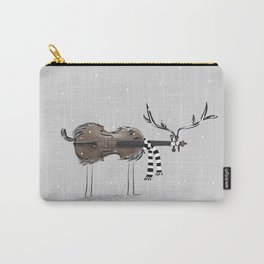 Christmas Violin Reindeer Carry-All Pouch