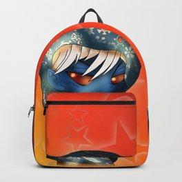 chibi dark elf with glowing red eyes Backpack