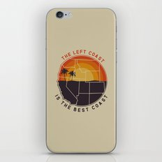 Left Coast is the Best Coast iPhone Skin