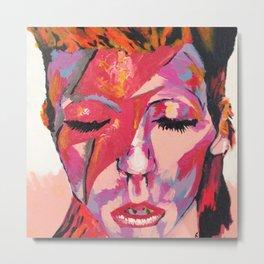"David ""Zigi Stardust"" Bowie Metal Print"