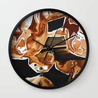 chandelier Wall Clocks featuring Chandelier by picturefire