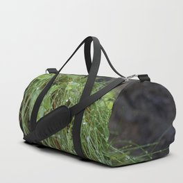 Dew Covered Coastal Plants on the Cliffs Duffle Bag
