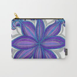Bloom in Aqua & Purple Carry-All Pouch