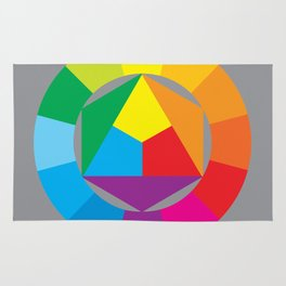 color wheel Rug