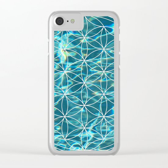 Flower of life in the water Clear iPhone Case