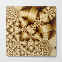 Golden shapes and patetrns in 3-D Metal Print
