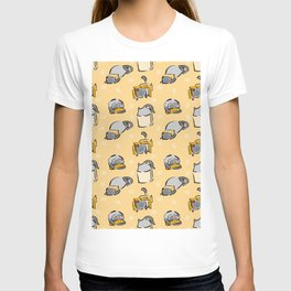 cat and boxes T-shirt