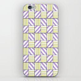 symetric tartan and gingham 15 -vichy, gingham,strip,square,geometric, sober,tartan iPhone Skin