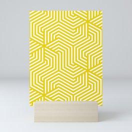 Safety yellow - yellow - Minimal Vector Seamless Pattern Mini Art Print