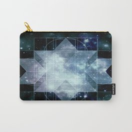 Galaxy Sacred Geometry Rhombic Hexecontahedron Blue Carry-All Pouch