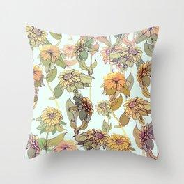 Flowers Garden Throw Pillow