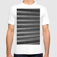 Silver Twisting Threads SMALL White Mens Fitted Tee