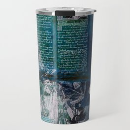 Medieval Moonlight Siren, Digital Collage Drawing Travel Mug