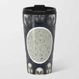 the moon's cycle and lines and dots Travel Mug