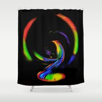fantasy Shower Curtains featuring  Fantasy  by Walter Zettl