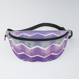 CHEVRON STRIPES - PURPLE Fanny Pack