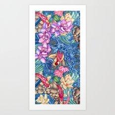 Orchid Splash Art Print