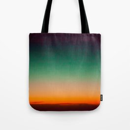 Green and Yellow Magic Dawn in the Sky (Vintage Nature Photography) Tote Bag