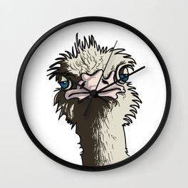 Grumpy Ostrich Wall Clock