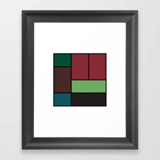 #404 Color fields – Geometry Daily Framed Art Print