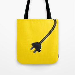 Yellow Power Cord Tote Bag