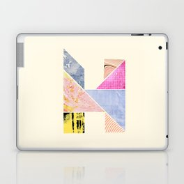 Collaged Tangram Alphabet - H Laptop & iPad Skin