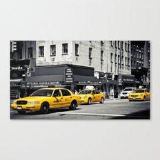 Yellow Cabs | B/W Canvas Print