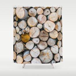 Logged Shower Curtain