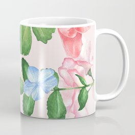 Watercolor Floral Collage in Blush Coffee Mug