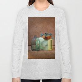 Still life with handmade pumpkins from felted wool Long Sleeve T-shirt