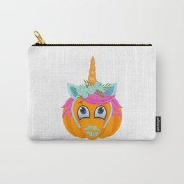 Unicorn Pumpkin Face Carry-All Pouch