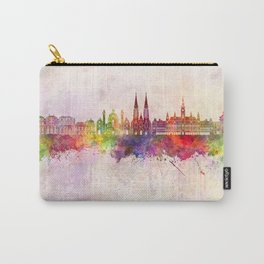 Vienna V2 skyline in watercolor background Carry-All Pouch