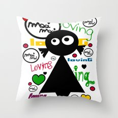 LOvinG MoOi MoOi Throw Pillow