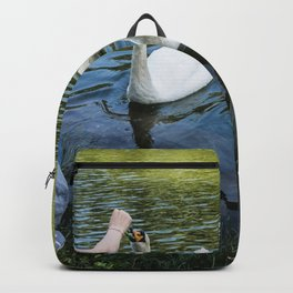 Girl and swans Backpack