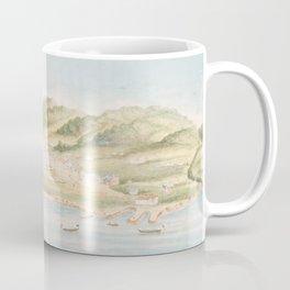 Vintage Pictorial Map of Monterey CA (1842) Coffee Mug