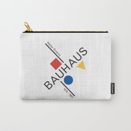 Bauhaus Movement Poster Artwork, 1919 Walter Gropius Reproduction, tshirt, tee, jersey, poster, artw Carry-All Pouch