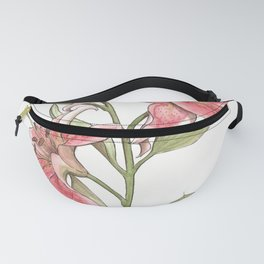 Pink Watercolor Lilies Fanny Pack