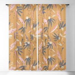 ADOBO GARDEN OCHRE Sheer Curtain