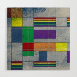 Mid-Century Modern Art - Rainbow Pride 1.0 Wood Wall Art