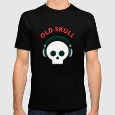 Old Skull Black Mens Fitted Tee MEDIUM