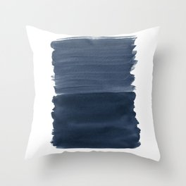 Blue Abstract Minimalism #1 #minimal #ink #decor #art #society6 Throw Pillow