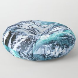 Gulfoss Waterfall Iceland Floor Pillow