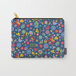 Swedish Folk Art Garden Carry-All Pouch
