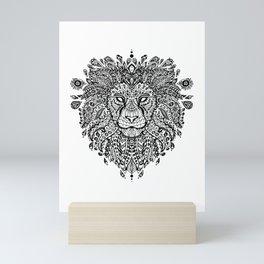 Lion Mandala Mini Art Print