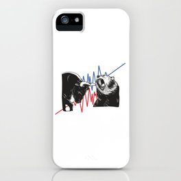 Stock Market Trading Trader Options Daytrader Bull Bear Dividend Inversting New York  iPhone Case