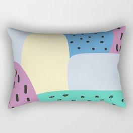 blue rock and roll Rectangular Pillow